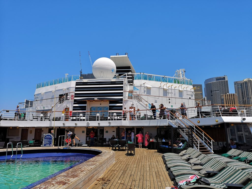The Oasis area at the very rear on deck 10 of Pacific Eden