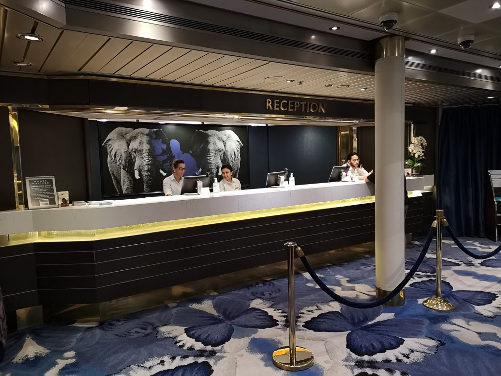 Guest services on Pacific Eden