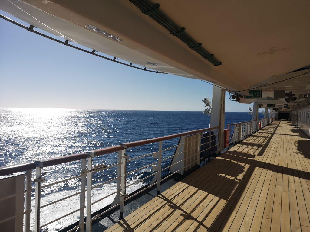 Peaceful walk on the promenade deck 6