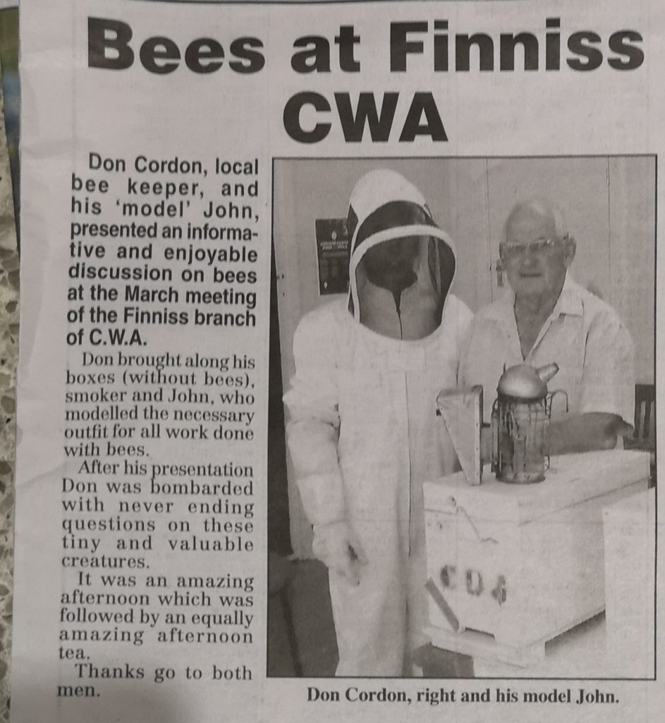 Mr Don & his model John in the local newspaper