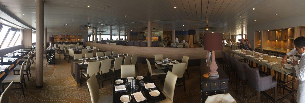 Waterfront restaurant panorama