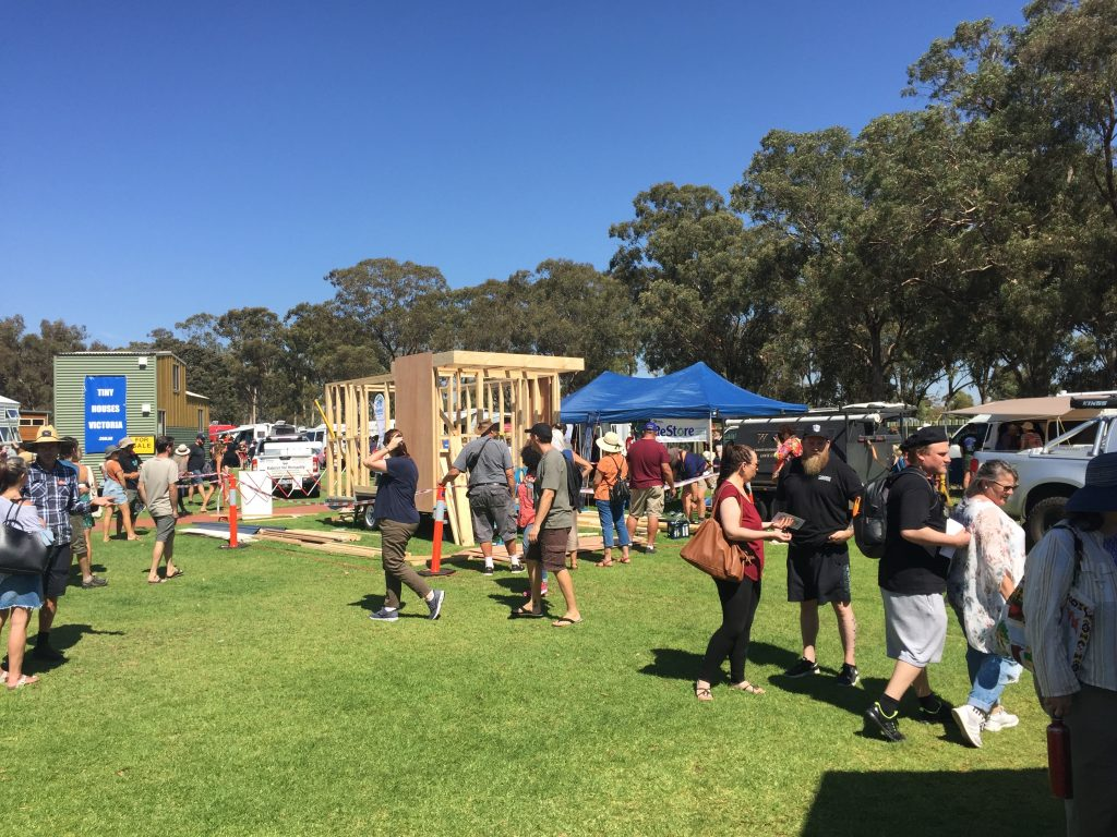 The first Tiny House Festival Australia 'on-site build'