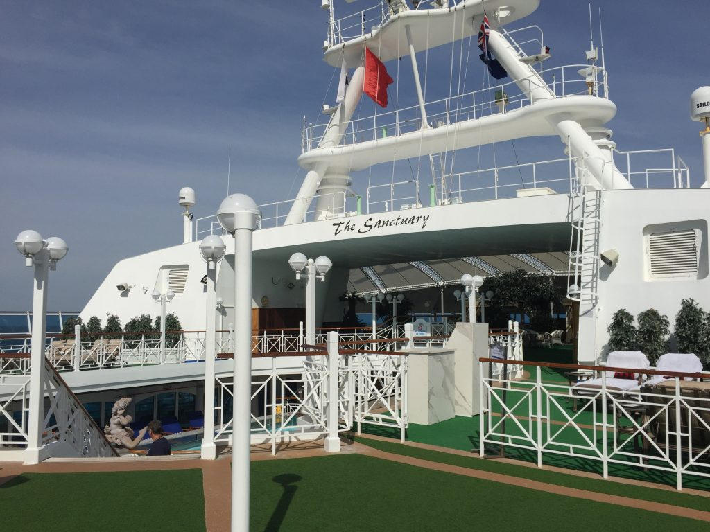 The Sanctuary - deck 16 on Golden Princess